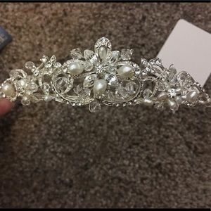 Silver/Swarovski Crystal Tiara Brand New